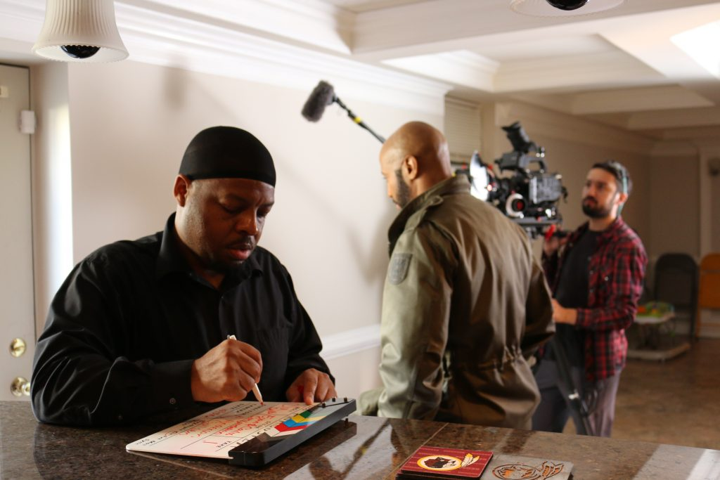 Anthony Anderson directs a scene from ANACOSTIA